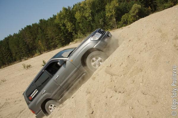 Песчаная гонка Montero Land Cruiser