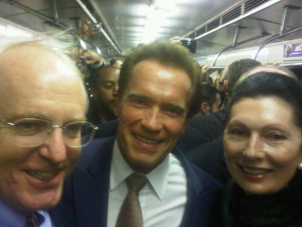 Riding the subway in Moscow with the Austria and the United States Ambassadors to Russia