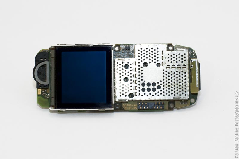 Как разобрать телефон Siemens S55