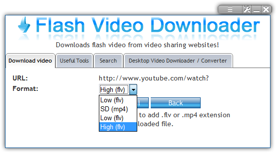 Flash Video Downloader Opera Widget