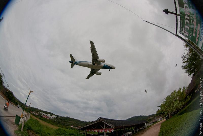 Посадка самолета на Ко Самуи