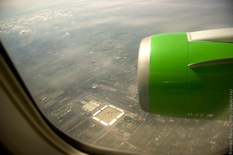 Фототграфии из самолета Новосибирск Бангкок