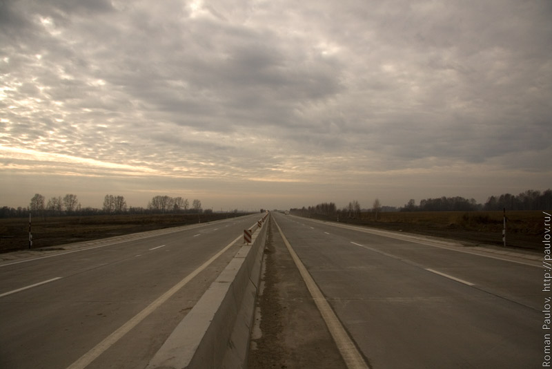 Северный обход Новосибирска около Мочища
