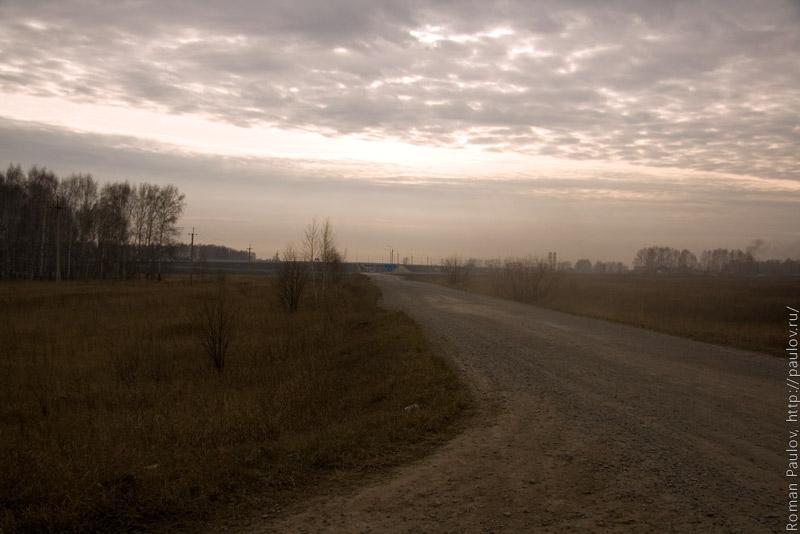 Северный обход Новосибирска вид со стороны села Локти