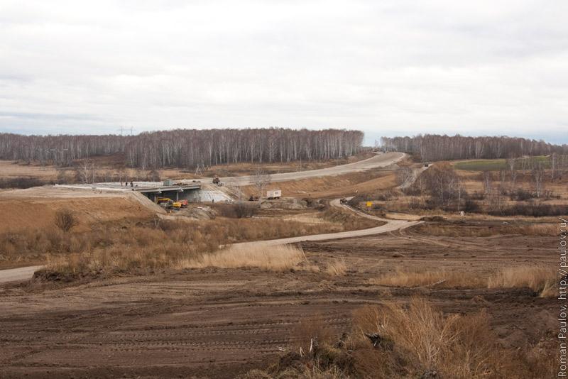 Строительство северного обхода Новосибирска от Мочища до Сокура Мост