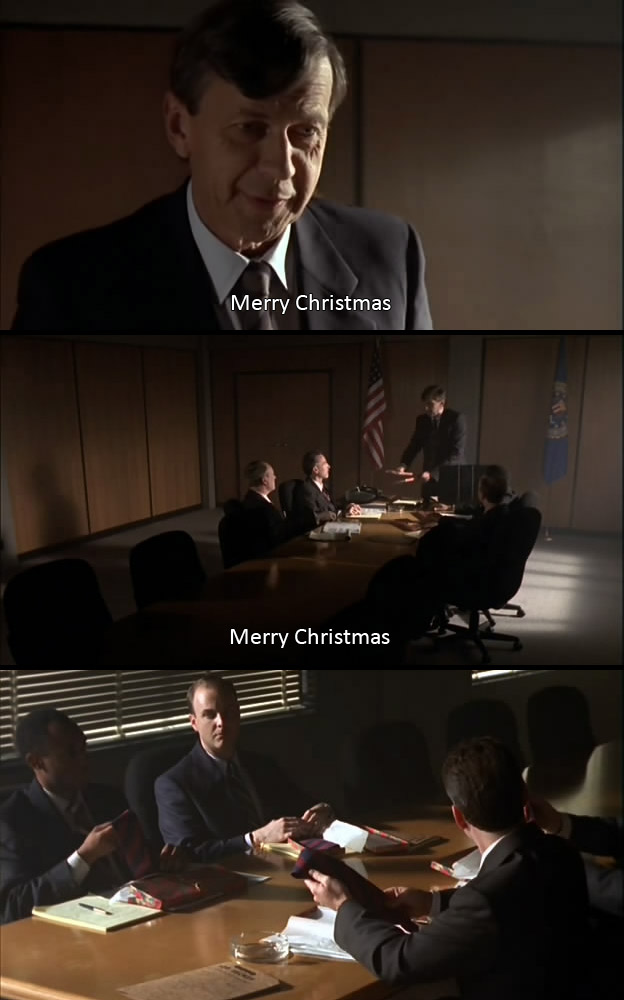 Cancerman XFiles merry christmas