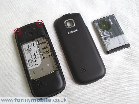 Как разобрать телефон Nokia 2330 classic (2)