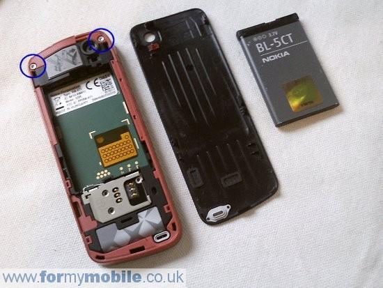 Как разобрать телефон Nokia 5220 Xpress Music (2)