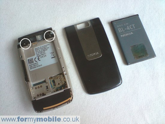 Как разобрать телефон Nokia 6600 Fold (2)