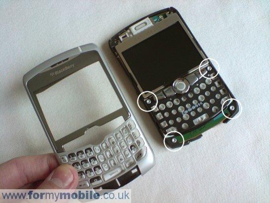 Как разобрать телефон Как разобрать телефон BlackBerry Curve 8310 (6)