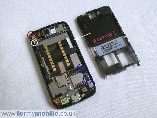 Как разобрать телефон HTC