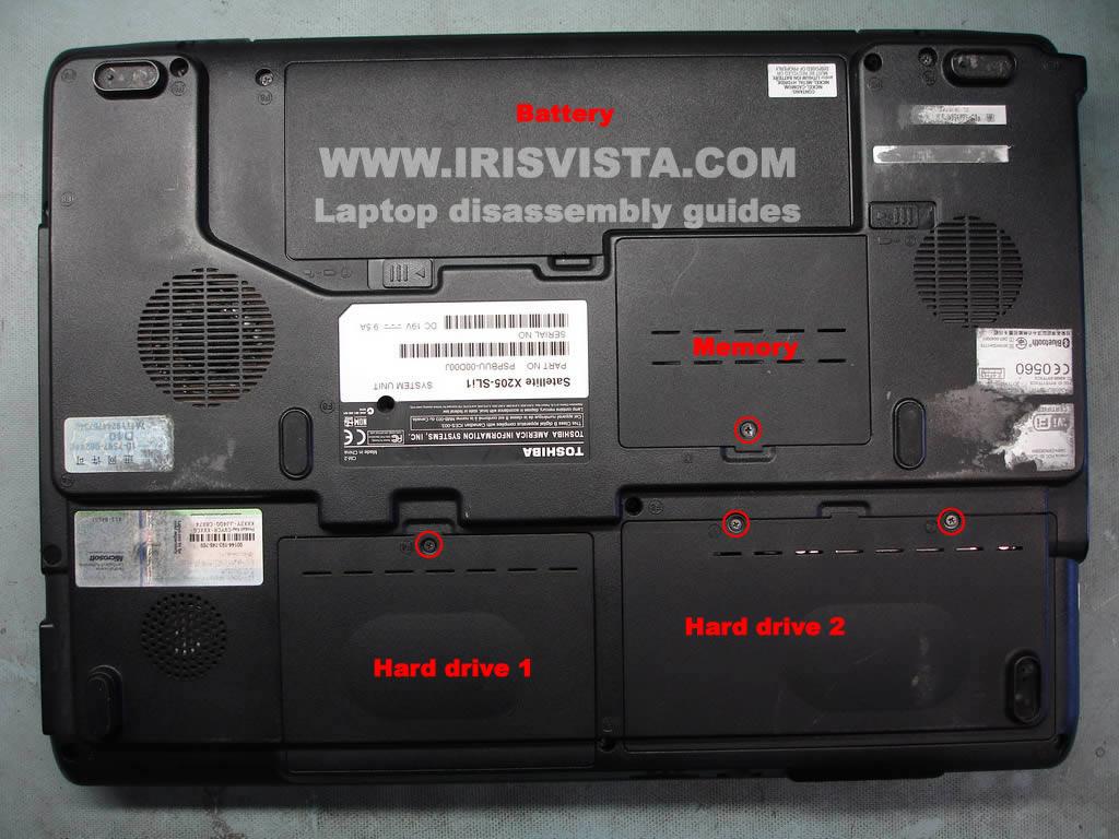 Как разобрать ноутбук Toshiba Satellite X205 и Satellite X200 (33)