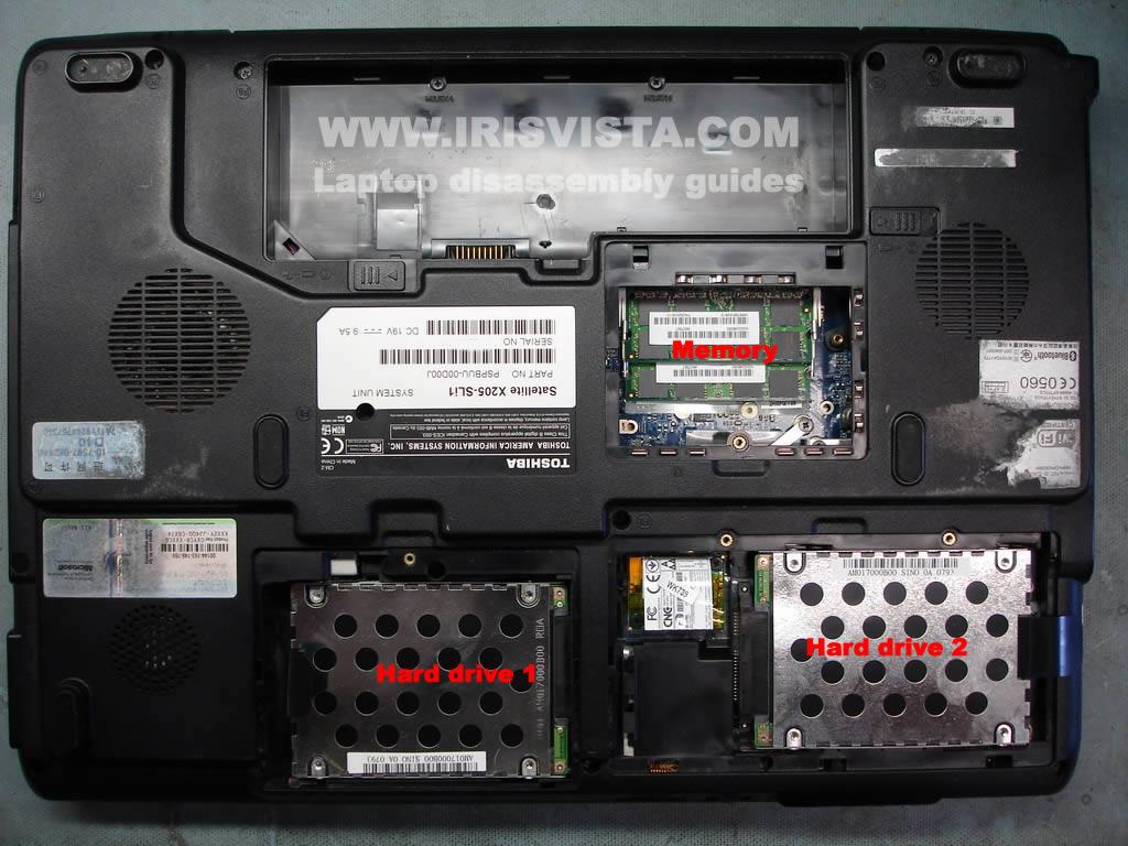 Как разобрать ноутбук Toshiba Satellite X205 и Satellite X200 (32)