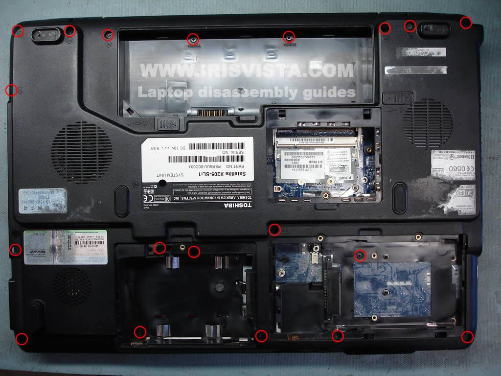 Как разобрать ноутбук Toshiba Satellite X205 и Satellite X200 (29)