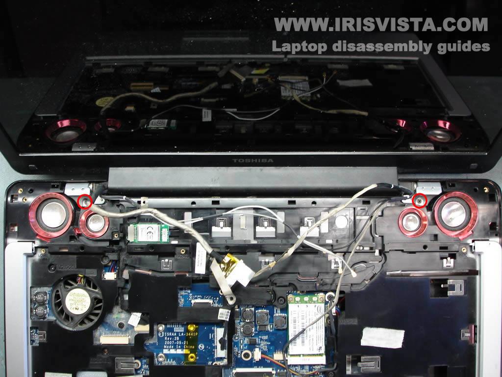 Как разобрать ноутбук Toshiba Satellite X205 и Satellite X200 (19)