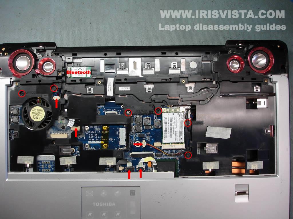 Как разобрать ноутбук Toshiba Satellite X205 и Satellite X200 (17)