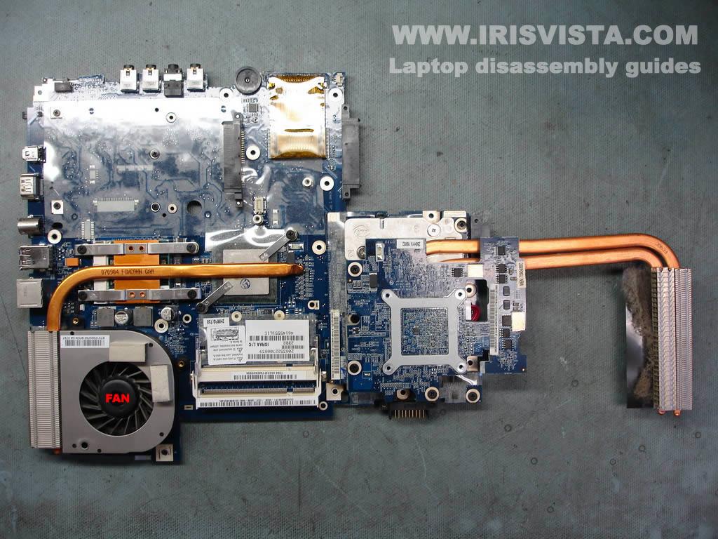 Как разобрать ноутбук Toshiba Satellite X205 и Satellite X200 (9)