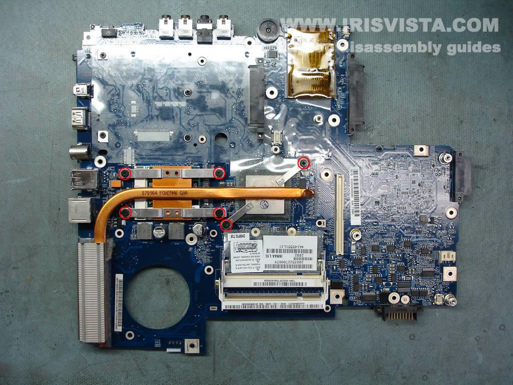 Как разобрать ноутбук Toshiba Satellite X205 и Satellite X200 (5)