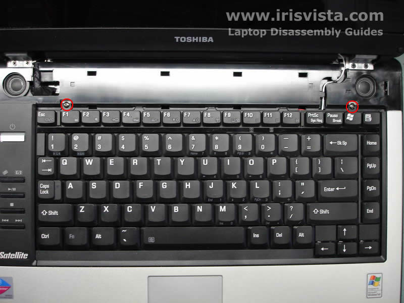 Как разобрать ноутбук Toshiba Satellite A105 (12)