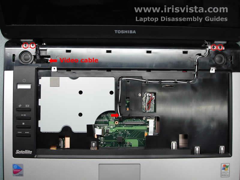 Как разобрать ноутбук Toshiba Satellite A105 (15)