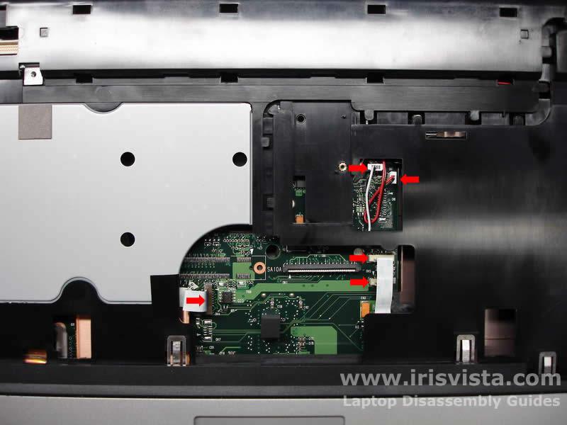 Как разобрать ноутбук Toshiba Satellite A105 (17)