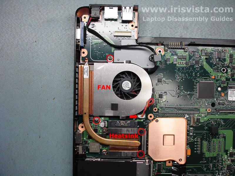 Как разобрать ноутбук Toshiba Satellite A105 (21)