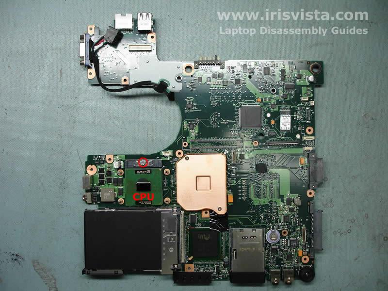Как разобрать ноутбук Toshiba Satellite A105 (24)