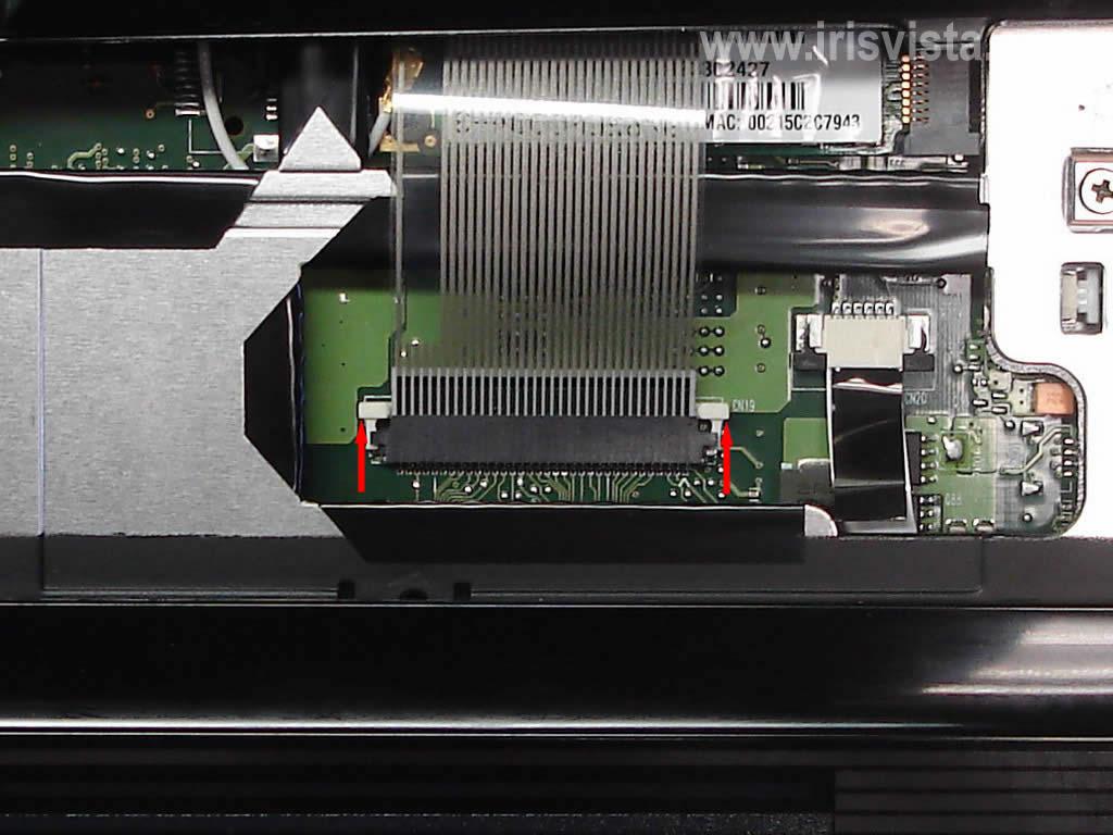 Как разобрать ноутбук A305/A305D или Satellite A300/A300D (21)
