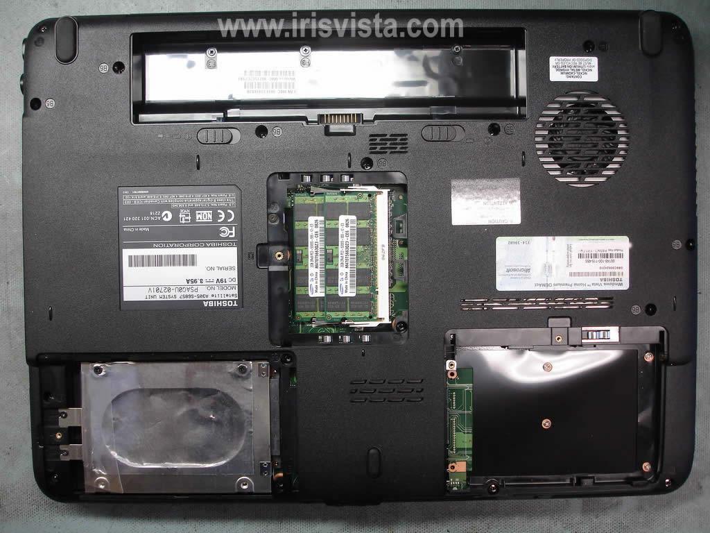 Как разобрать ноутбук A305/A305D или Satellite A300/A300D (19)