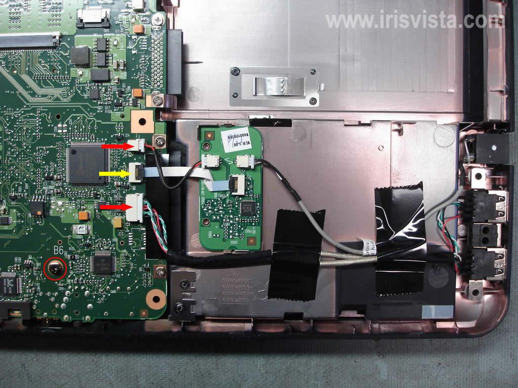 Как разобрать ноутбук A305/A305D или Satellite A300/A300D (8)