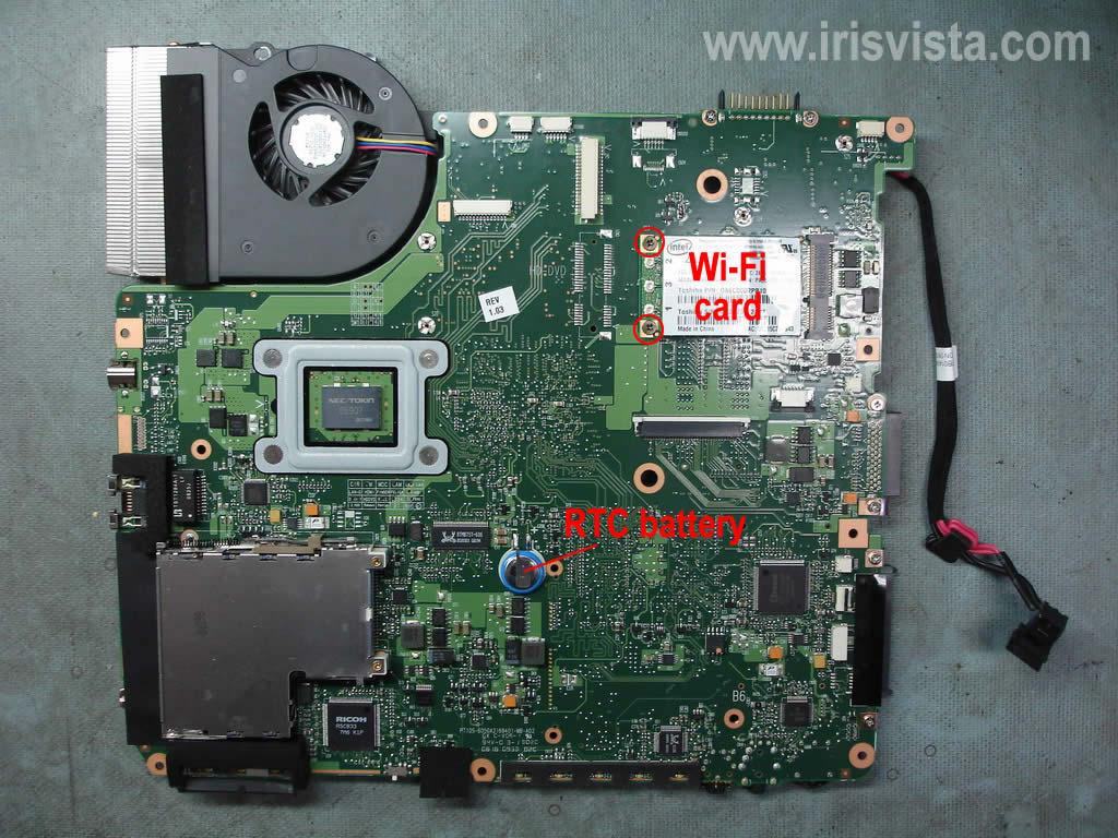 Как разобрать ноутбук A305/A305D или Satellite A300/A300D (4)
