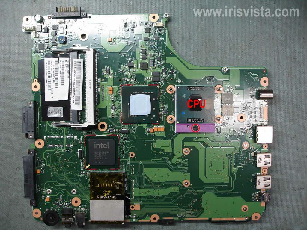 Как разобрать ноутбук A305/A305D или Satellite A300/A300D (1)