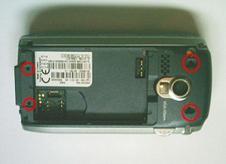 Как разобрать телефон Sony Ericsson P900 (2)