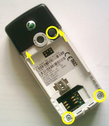 Как разобрать телефон Sony Ericsson T610 (2)