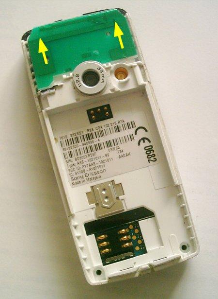Как разобрать телефон Sony Ericsson T610 (3)