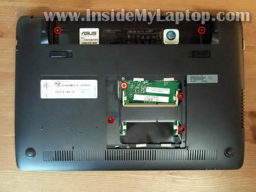 Как разобрать ноутбук Asus Eee PC 1215B (4)