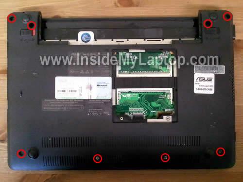 Как разобрать ноутбук Asus Eee PC 1201n (11)