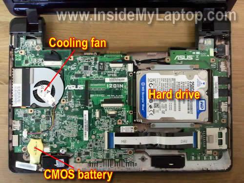 Как разобрать ноутбук Asus Eee PC 1201n (16)