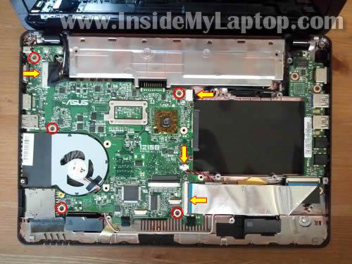 Как разобрать ноутбук Asus Eee