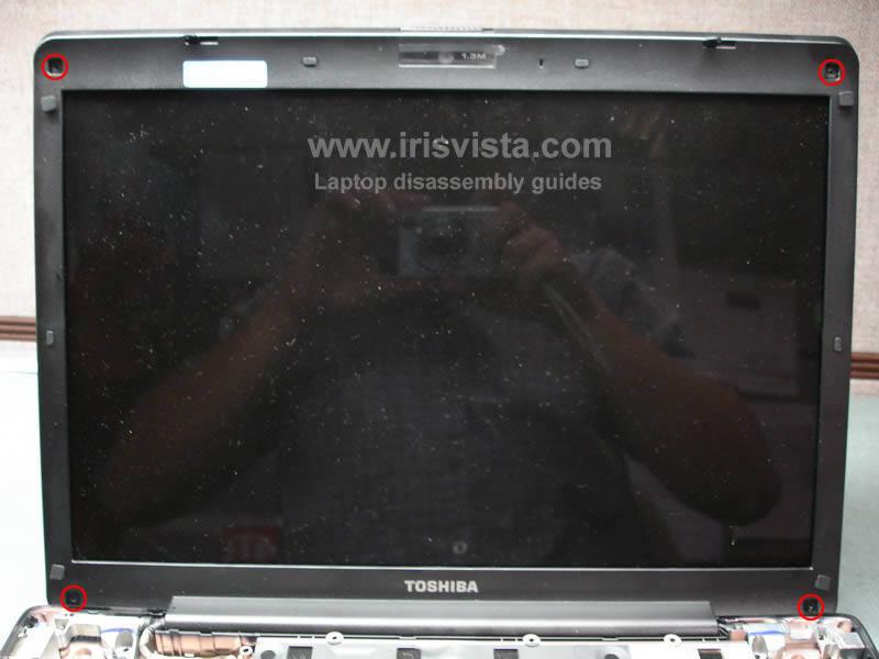 как разобрать ноутбук Toshiba Satellite A210 и Toshiba Satellite A215 и сменить экран (15)