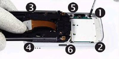 Как разобрать телефон Nokia 6111 (30)
