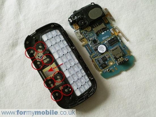Как разобрать телефон Samsung B3410 (6)