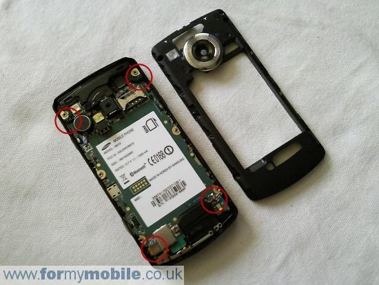 Как разобрать телефон Samsung i8910 Omnia HD (6)