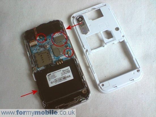 Как разобрать телефон Samsung Tocco Lite S5230 (4)