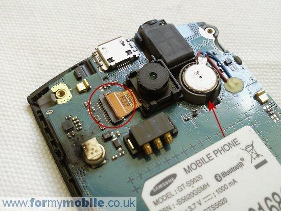 Как разобрать телефон Samsung Monte S5620 (5)