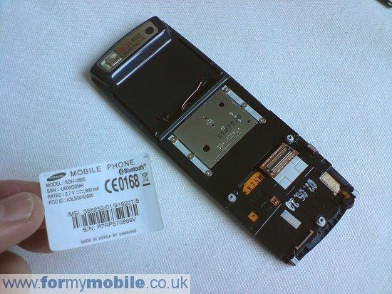 Как разобрать телефон Samsung U600 (9)