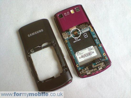 Как разобрать телефон Samsung Tocco Ultra S8300 (4)