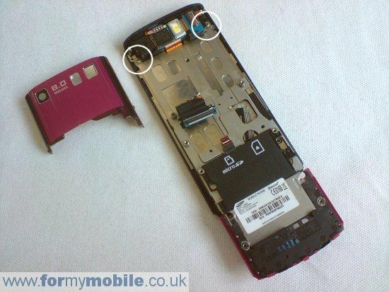 Как разобрать телефон Samsung Tocco Ultra S8300 (9)