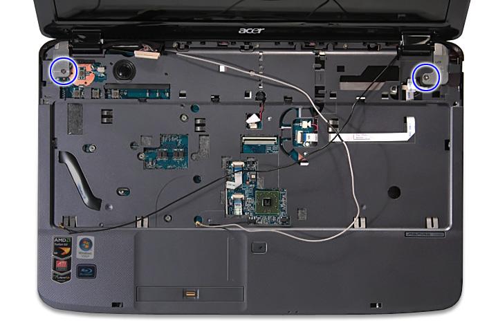Как разобрать ноутбук Acer Aspire 5738G/5738ZG/5738Z/5738/5338, Aspire 5536/5536G/5236 (42)