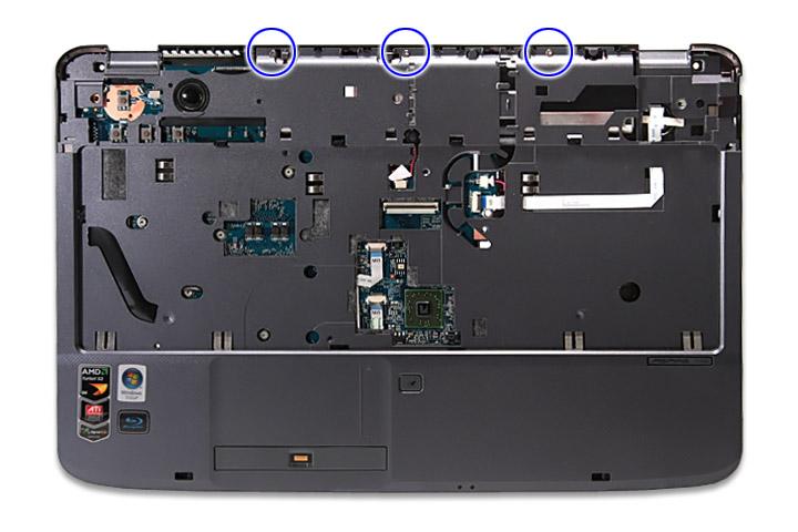 Как разобрать ноутбук Acer Aspire 5738G/5738ZG/5738Z/5738/5338, Aspire 5536/5536G/5236 (44)